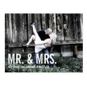 Elopement Announcement Postcard