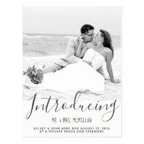 Elopement Wedding Announcement Photo Postcard