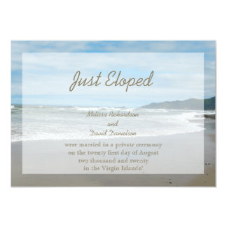 "Elopement Wedding Marriage Announcement Invitation 5"" X 7"" Invitation Card"