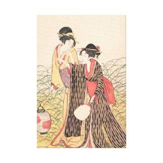Elopers en arte del japonés de Musashino Kitagawa  Lona Envuelta Para Galerias