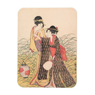 Elopers en arte del japonés de Musashino Kitagawa  Rectangle Magnet