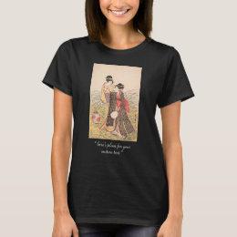 Elopers in Musashino Kitagawa Utamaro japanese art T-Shirt