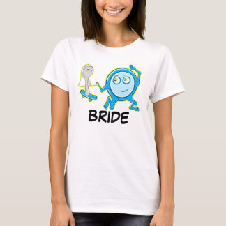 Eloping The dish ran away with the spoon Bride T-Shirt