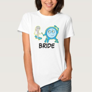 Eloping The dish ran away with the spoon Bride Tee Shirt
