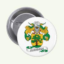 Eloriaga Family Crest Button