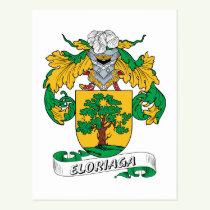 Eloriaga Family Crest Postcard