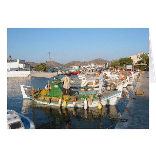 Elounda Creta - tarjeta de felicitaciones
