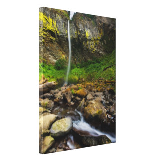 Elowah Falls Stretched Canvas Stretched Canvas Print