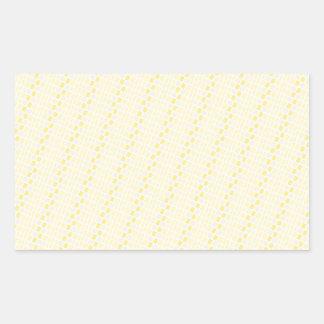ELP light yellow stripes ovals patterns templates Rectangular Sticker