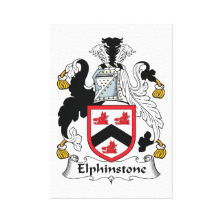 Elphinstone Family Crest Stretched Canvas Prints