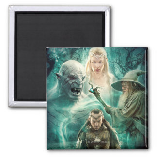 ELROND™, Azog, Galadriel, & Gandalf Graphic 2 Inch Square Magnet