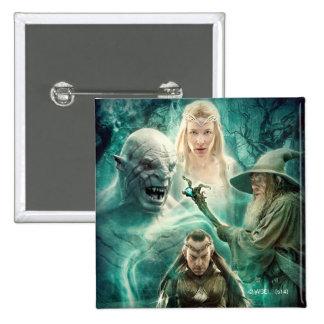Elrond, Azog, Galadriel, & Gandalf Graphic Pinback Button