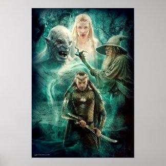 ELROND™, Azog, Galadriel, & Gandalf Graphic Poster