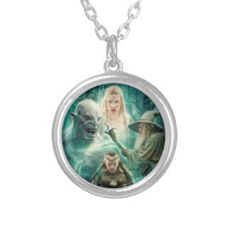 ELROND™, Azog, Galadriel, & Gandalf Graphic Silver Plated Necklace