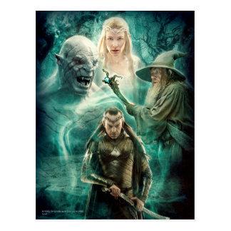 Elrond, Azog, Galadriel, y gráfico de Gandalf Postal