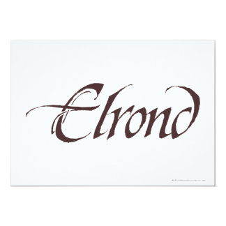 Elrond Name Solid Card