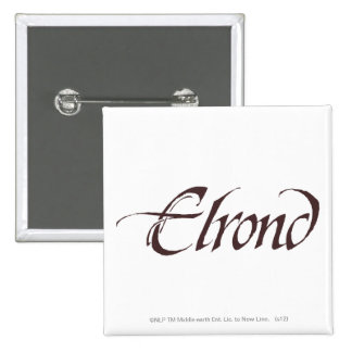 Elrond Name Solid Pinback Button