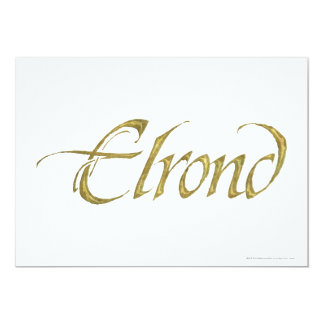 Elrond Name Textured Card