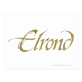 ELROND™ Name Textured Postcard