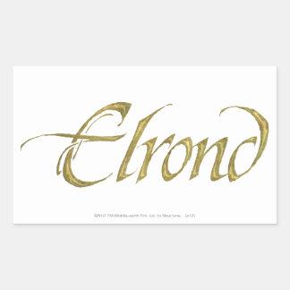 ELROND™ Name Textured Rectangular Sticker