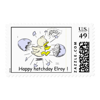 Elroy is born! stamp