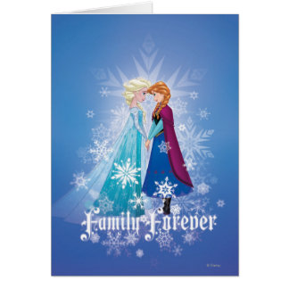 Elsa and Anna - Family Forever Card