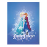 Elsa and Anna - Family Forever Post Card