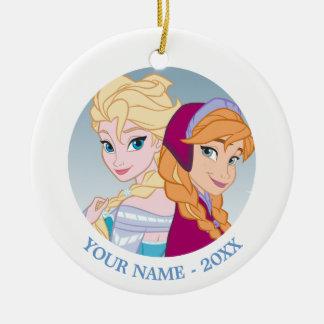 Elsa and Anna- Follow Your Heart Ceramic Ornament