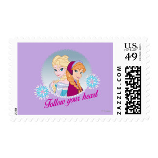 Elsa and Anna- Follow Your Heart Postage