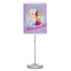 Table Lamp with Follow your Heart design