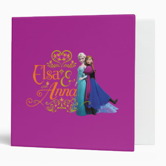Elsa and Anna Standing Back to Back 3 Ring Binders