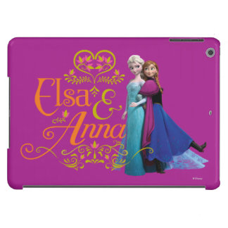 Elsa and Anna Standing Back to Back iPad Air Cover