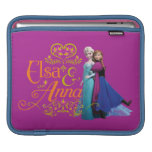 Elsa and Anna Standing Back to Back Sleeve For iPads