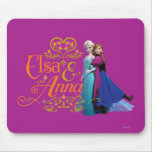 Elsa and Anna Standing Back to Back Mouse Pads