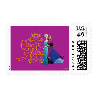 Elsa and Anna Standing Back to Back Postage Stamp