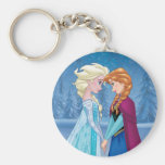 Elsa and Anna -  Together Forever Basic Round Button Keychain