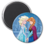 Elsa and Anna -  Together Forever 2 Inch Round Magnet