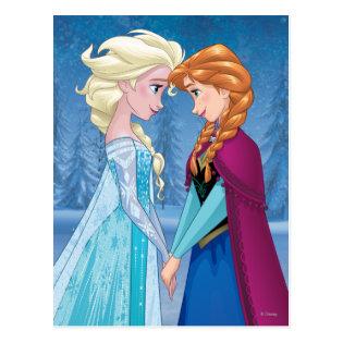 Elsa and Anna -  Together Forever Postcard