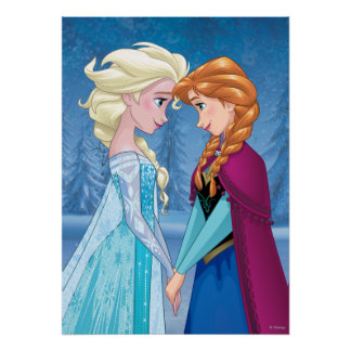 Elsa and Anna -  Together Forever Poster