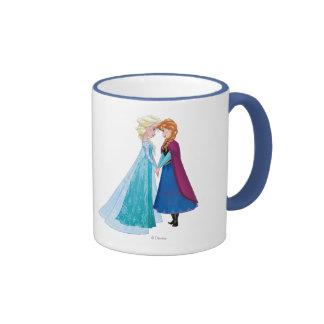 Elsa and Anna -  Together Forever Ringer Coffee Mug
