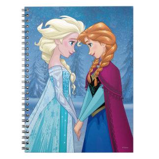 Elsa and Anna -  Together Forever Spiral Notebook