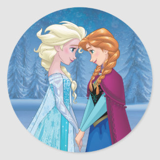 Elsa and Anna -  Together Forever Classic Round Sticker