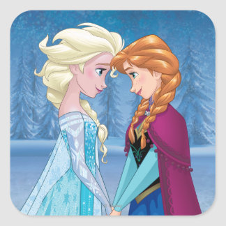 Elsa and Anna -  Together Forever Square Sticker