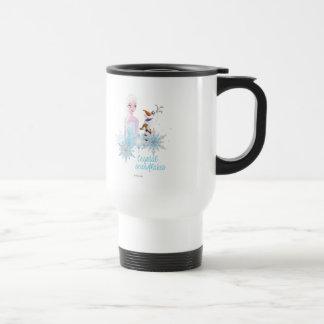 Elsa and Olaf - Crystal Snowflakes Coffee Mugs