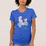 Elsa and Olaf - Crystal Snowflakes Tshirt