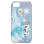 Elsa and Olaf - Icy Glow iPhone 5C Cases