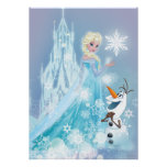 Elsa and Olaf - Icy Glow Poster