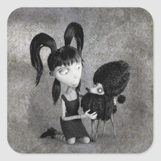 Elsa and Persephone Square Sticker