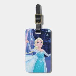 Elsa - chispeando, hielo elegante etiquetas maleta