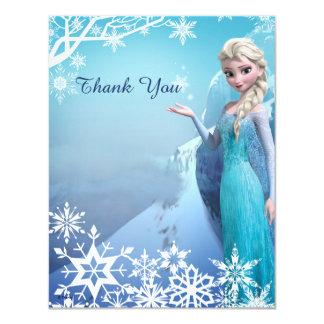 Elsa congelado le agradece invitación 10,8 x 13,9 cm